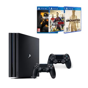 Consola-Pro-1TB----Call-of-Duty-Black-Ops-4---PES-2019---Uncharted-Collection---2Mandos